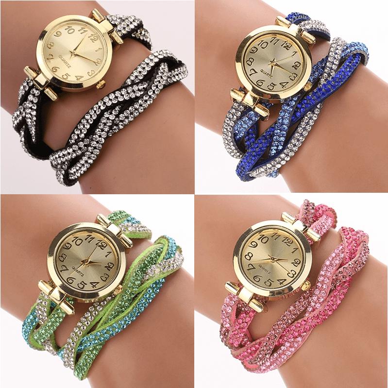 Náramkové hodinky s kamínky