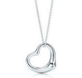 Dámský náhrdelník ve tvaru srdce